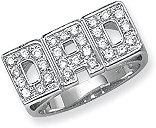 Sterling Silver Mens Dad Ring Brand New