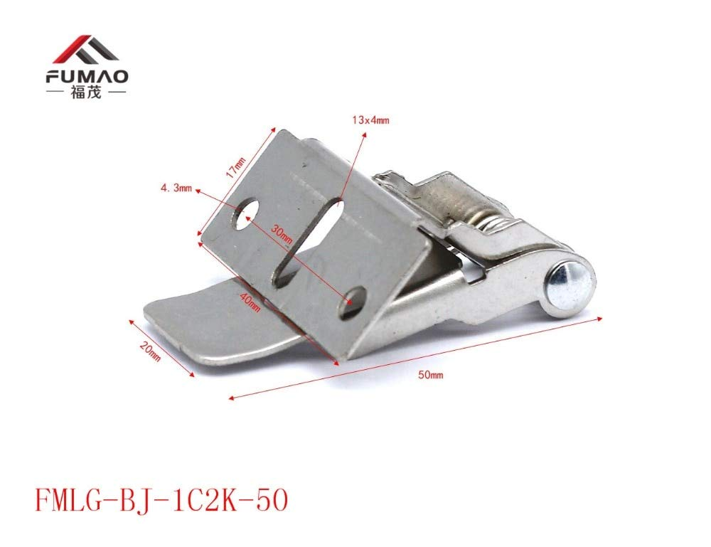 Ochoos Manufacture 55mm Length Flat Metal Spring Clips for LED Downlight - (Size: FMLY-BJWK-62)