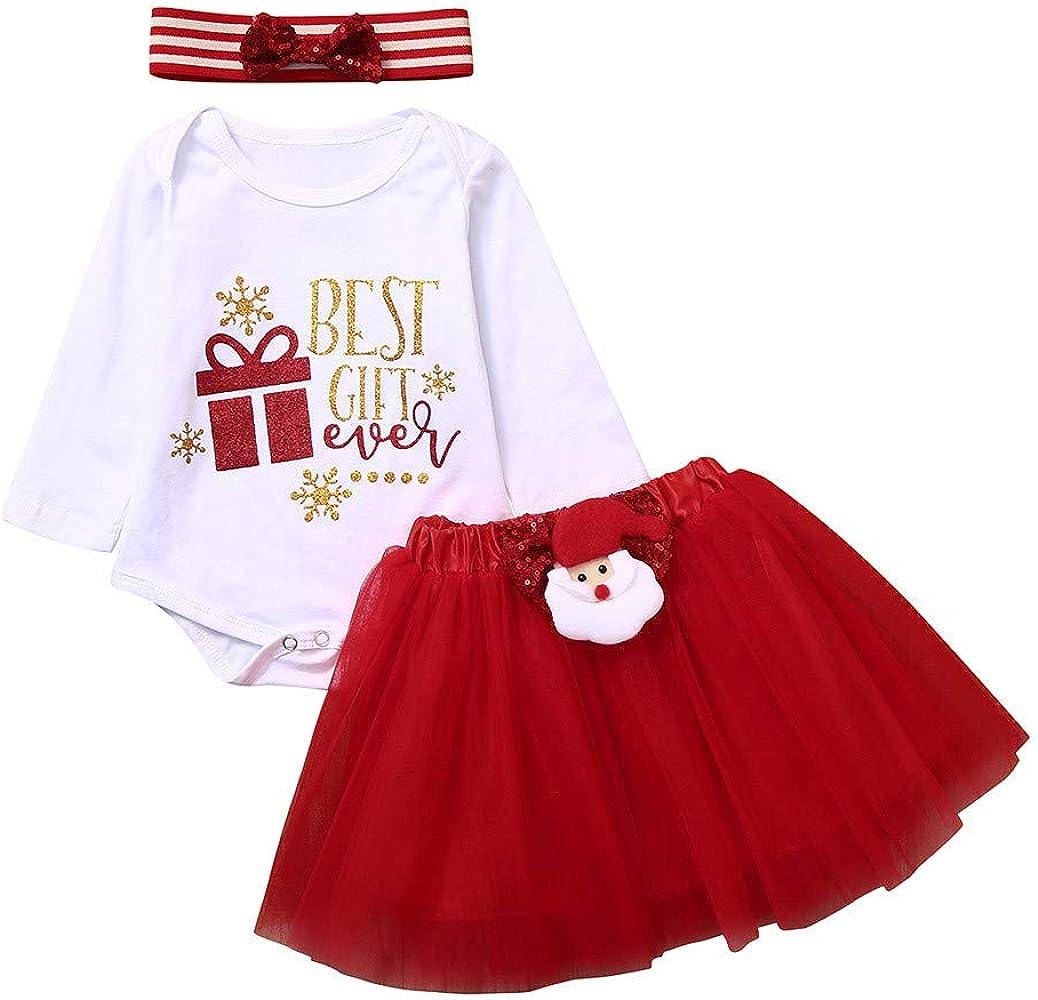 BBSMLIN Disfraz Bebe Niña Navidad Conjunto Peleles con Carta de ...
