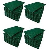 Green Scrub Scouring Sponge Pads, Great for Kitchen dishwashing,Pot Cleaning Dish Scrunge,Set Of 40 5 3/4'' x 3 3/4''