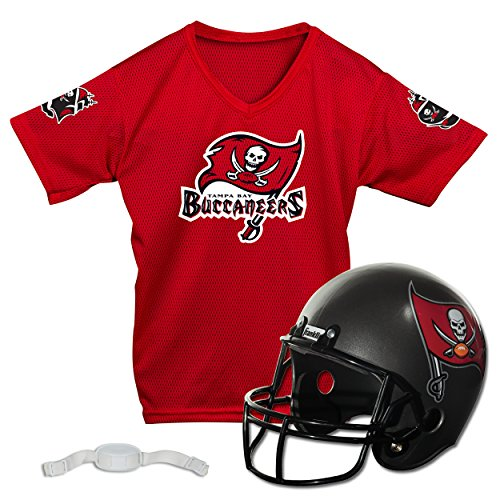 Franklin Sports NFL Tampa Bay Buccaneers Replica Youth Helmet and Jersey Set, Medium (Bay Tampa Nfl Buccaneers Jersey)
