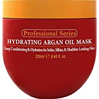 Mascarilla hidratante Arvazallia de aceite de Argan y acondicionador profundo para cabello seco y dañado, 8.45 onzas