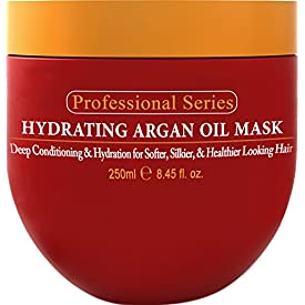 Hydrating Argan Oil Hair Mask and Deep Conditioner By Arvazallia for Dry or Damaged Hair – 8.45 Oz
