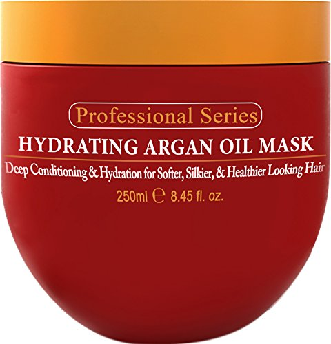 Hydrating Argan Oil Hair Mask and Deep Conditioner By Arvazallia for Dry or Damaged Hair - 8.45 Oz (Best Hair Oil For Split Ends)