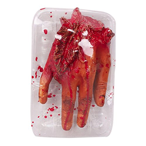 Balai Chopped Human Parts Meat Market Shop Value Pack Halloween Trick or Treat Party Prop Decoration, Rubber - Haunted House Halloween Decorations