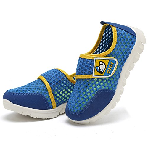 CIOR Kid's Mesh Lightweight Sneakers Baby Breathable Slip-On For Boy and Girl's Running Beach Shoes(Toddler/Little Kid) 23
