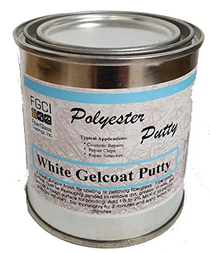 FGCI Gelcoat Putty White - 1/2 Pint Can