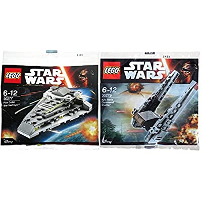 Lego Star Wars Kylo Ren's Command Shuttle 30279 and First Order Star Destroyer 30277 Polybag Force Awakens Edition Building Set: Toys & Games