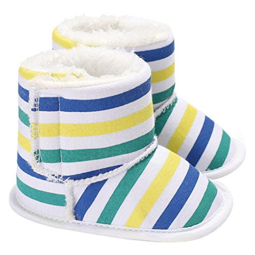 ❆Huhu833 Kinder Mode Baby Stiefel Soft Sole, Keep Warm Schnee Stiefel, Kleinkind Stiefel Warm Schuhe (0-18 Month) Weiß