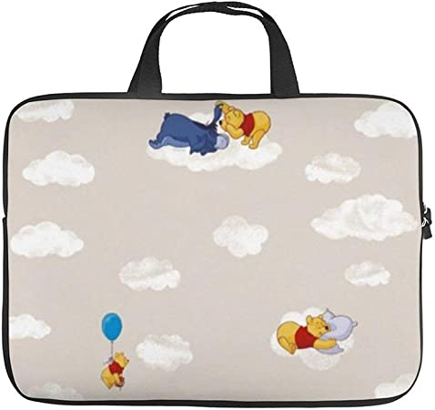 Winnie The Pooh Kiss Laptop Bag Protective Case Tote Notebook Computer Pocket Case Carrying Zipper Bag 10-17 Inch