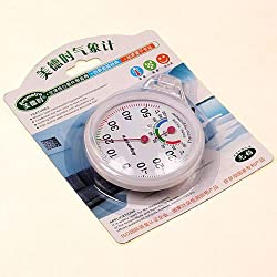 MIni Round Clock-shaped Indoor Wet Hygrometer Humidity Thermometer Temperature Meter hot