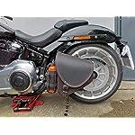 Diablo-Black-Orange-Harley-Davidson-Saddle-Bag-by-Orletanos-Limited-Edition-Swing-Arm-HD-Black-Swing-Pocket-Side-Pocket-Leather-Bag-Biker-Bag-Fatboy-Frame-Star-Frame-Leather
