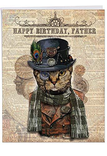 Stylish Happy Birthday Card to Father (8.5