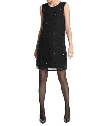 ESPRIT Damen Collection Kleid aus ChiffonKnielangEinfarbigGr edCoxWErBQ