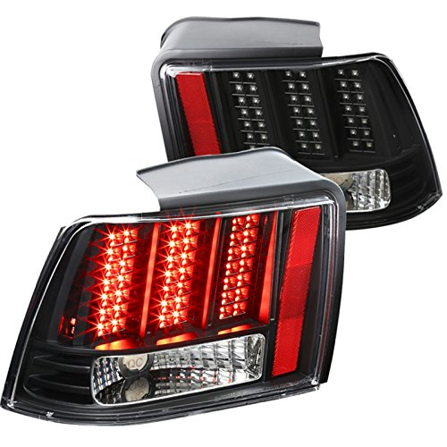Ford Mustang Black Clear Sequential LED Tail Lights Brake Lamps - Rear Cobra Brake