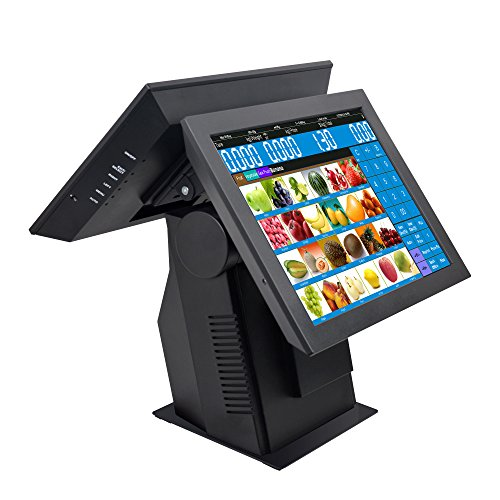 Zhongji fabricante directo venta personalizada 15inch computadora POS caja registradora para restaurante de comida rápida,...