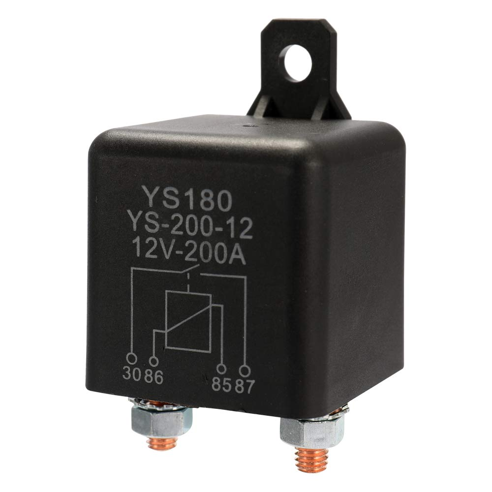 Festnight YS180 200A 24V Car Relay Small Size Lightweight Portable Vehicle Electronic Control Element with 7 Silver Contactors