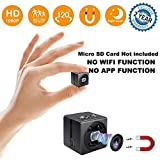 Mini Hidden Spy Camera - Full HD 1080P Portable Mini Security Camera Nanny Cam - Small Magnetic Camera - Surveillance Camera Night Vision/Motion Detection Home Car Office,Indoor/Outdoor