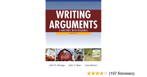 Amazon writing arguments a rhetoric with readings 9th edition amazon writing arguments a rhetoric with readings 9th edition 9780205171637 john d ramage john c bean june johnson books fandeluxe Images