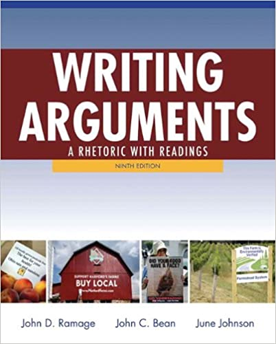 Writing Arguments A Rhetoric With Readings 9th