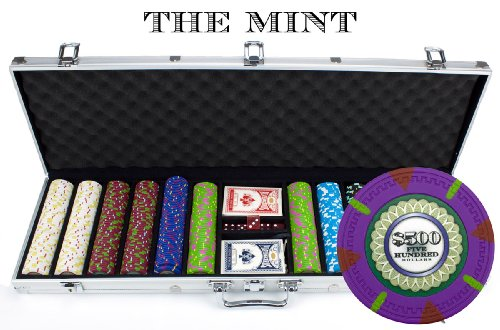 Claysmith Gaming 600-Count 'The Mint' Poker Chip Set in Aluminum Case, 13.5gm by Claysmith Gaming