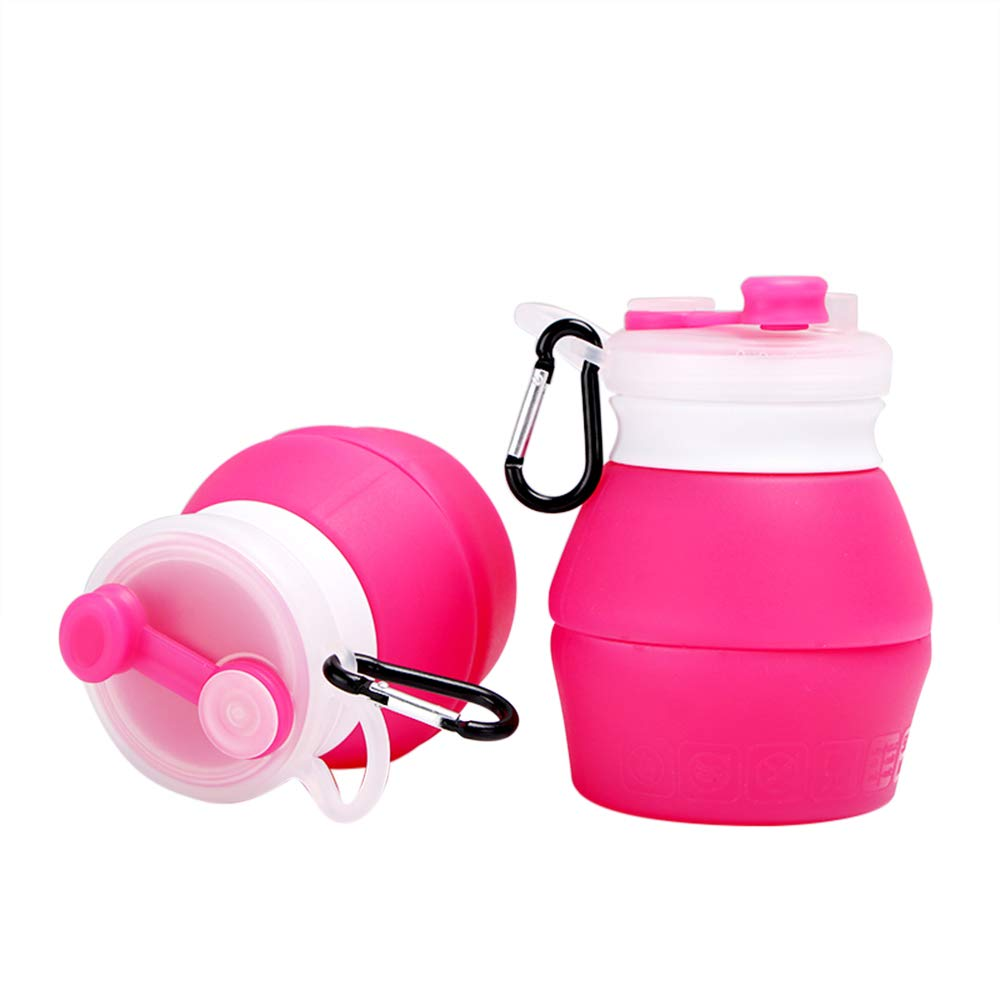 YAMYONE Collapsible Water Bottle BPA Free FDA Approved Food-Grade Silicone Portable Leak Proof Travel Water Bottle 18oz