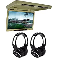TView T206IR 20 Thin Flip Down Car/Truck Video Monitor + 2 Wireless Headsets