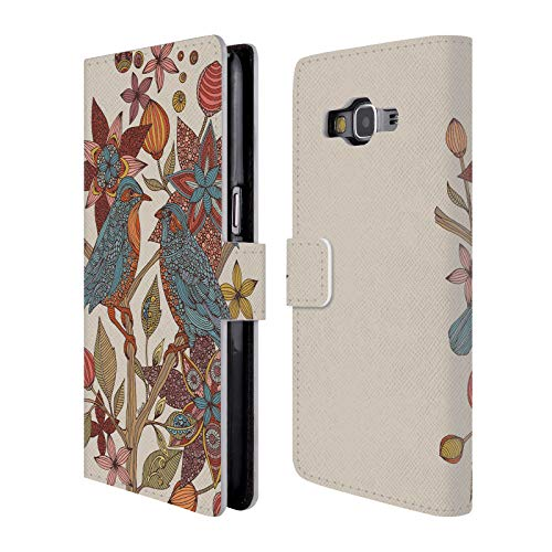 (Official Valentina Love Birds Leather Book Wallet Case Cover for Samsung Galaxy Grand Prime)