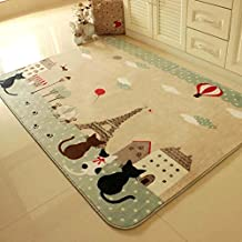 FADFAY Three Cats Rugs And Carpets For Home Living Room Cartoon Tower Kids Bedroom Floor Mat