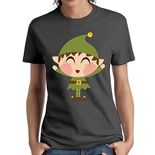 [MAGGO Humor Little Boy Christmas Cap Logo T-shirt Womens DeepHeather] (Avatar Aang Costume)