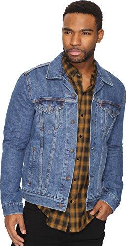 (Levi's Men's The Trucker Jacket, Medium Stonewash, Large)