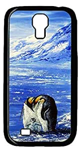 Brian114 Samsung Galaxy S4 Case, S4 Case - Cool Black Back Hard Case for Samsung Galaxy S4 I9500 Penguin Family In Frozen World Design Hard Snap-On Cover for Samsung Galaxy S4 I9500 WANGJING JINDA
