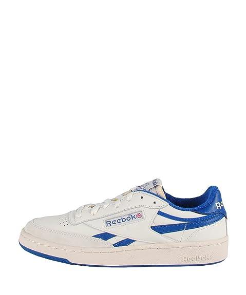 Reebok Revenge Plus Vintage White Blue Sneakers - Zapatillas de deporte blancas azul Blanco Size: 44.5: Amazon.es: Zapatos y complementos