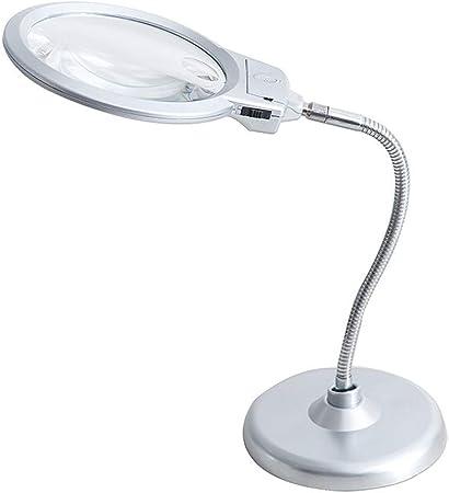 LED illuminato lente d ingrandimento lente d ingrandimento LED lampada da scrivania 2/x 5/x lente d ingrandimento tavolo con luce LED supporto per artigianato controllo di lettura design saldatura cucito etc
