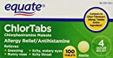 Equate: Chlortabs Tablets Antihistamine, 100 Ct