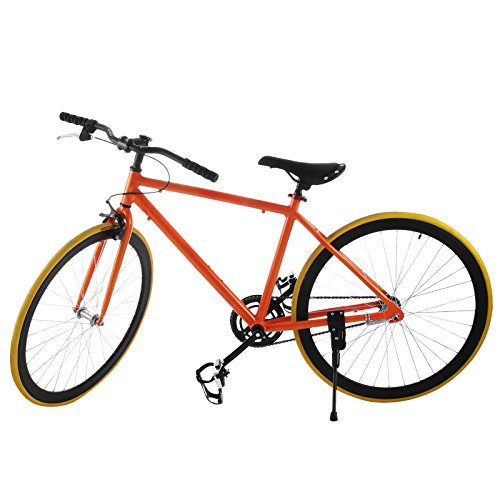 SucceBuy Fixed Gear Bike Single Speed Fixie Bike 27 Inch Road Bike ...
