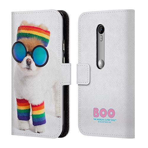 Official Boo-The World's Cutest Dog Rasta Portraits Leather Book Wallet Case Cover for Motorola Moto G (3rd Gen) (Motorola Moto G Case Rasta)