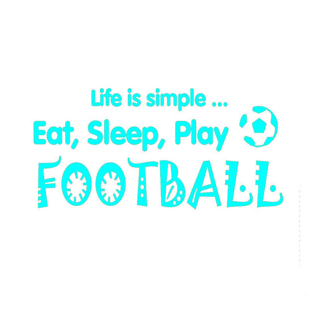 Tatuajes de pared Cita deportiva Pegatinas Eat Sleep Play Football ...