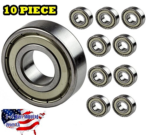 6203-ZZ Ball Bearing Dual Sided Metal Shielded Deep Groove (10PCS)