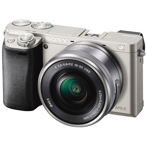 Sony Alpha a6000 Mirrorless Digital Camera with 16-50 mm Lens 24.3MP (Silver)