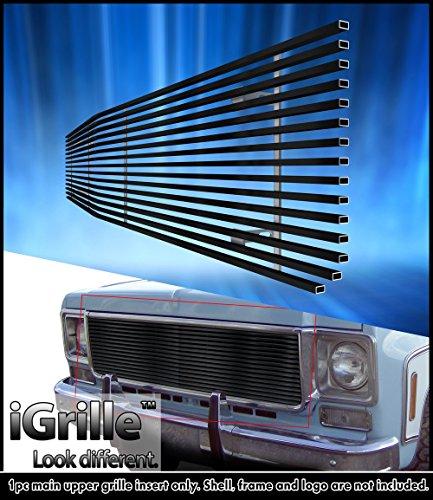 eGrille Fit 73-80 Chevy C/K Pickup/Suburban/Blazer Black Stainless Billet (Suburban Blazer Billet Grille)