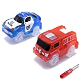 ONTOPON Magic Tracks, Light Cars for Flexible and Bright Circuit (blue + red)