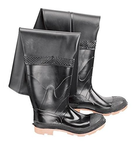- Bata Shoe 86049-10 Onguard Industries Size 10 Storm King Black 27'' PVC and Polyester Hip Waders with Cleated Outsole, Steel Toe and Removable Insole, English, 15.34 fl. oz, Plastic, 27