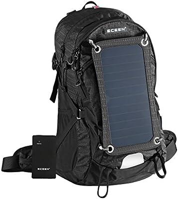 Mochila marco externo con cargador solar de móvil, pack de batería ...