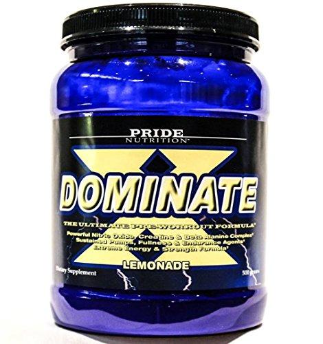 #1 Pre Workout - Dominate X 500g - Best Nitric Oxide & Creatine Pre-Workout Formula (Lemonade)