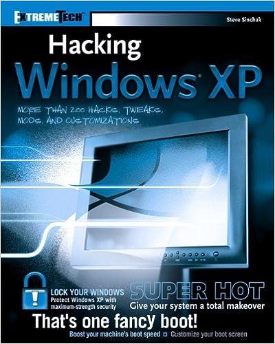 Hacking windows xp steve sinchak 9780764569296 amazon books hacking windows xp papcdr edition fandeluxe Gallery