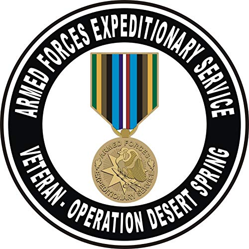 US Navy Armed Forces Expeditionary Medal Operation Desert Spring Military Veteran Served Window Bumper Sticker Vinyl Decal 3.8