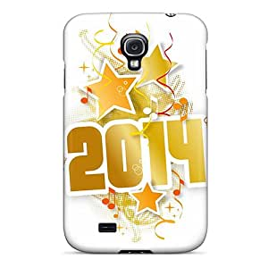 Galaxy S4 Case Cover - Slim Fit Tpu Protector Shock Absorbent Case (music New Year 2014)