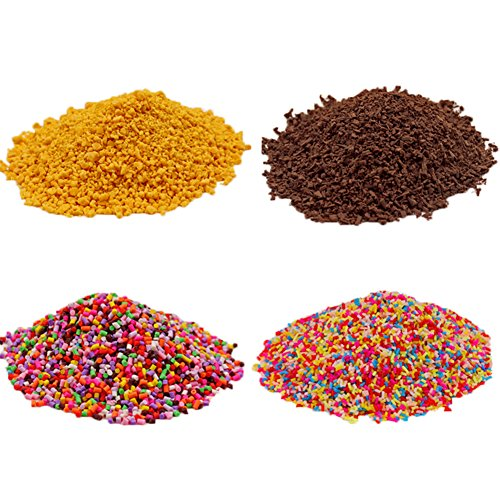 4 Pack Colorful Fake Candy Sweets Sugar Sprinkles Decorations for Fake Cake Dessert Simulation Food (70g)