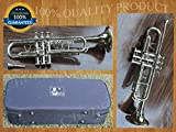TRUMPET Chopra Bb 3 Valve PRO SHINNING BRASS MARCHING CONCERT WITH MOUTH PIECE & HARD CASE FREE